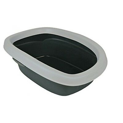 Cat Toilet Litter Tray With Rim And Scoop - Trixie Carlo Edge Greylight Various