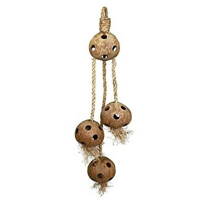 Trixie Coconuts On A Jute Rope, 72cm - 72cm Toy Rope Parrots Hanging Cage