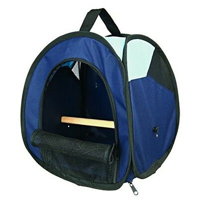 Trixie Transport Bag, Dark Blue/light Blue - Bag Bird Perch Bluelight Removable