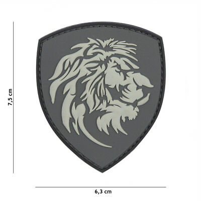 PATCH 3D PVC DUTCH LION GRIS tactical