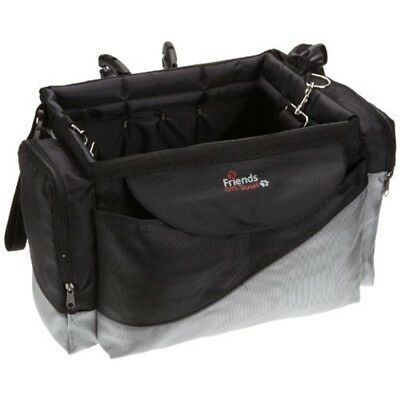 Dog Carrier Bicycle Front Box Deluxe - Travel Pet Small Puppy Blackgrey Biker