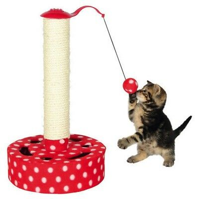 Trixie Scratching Post With Fleece Cover, 45 Cm, Red/white - Cats Play Tree New