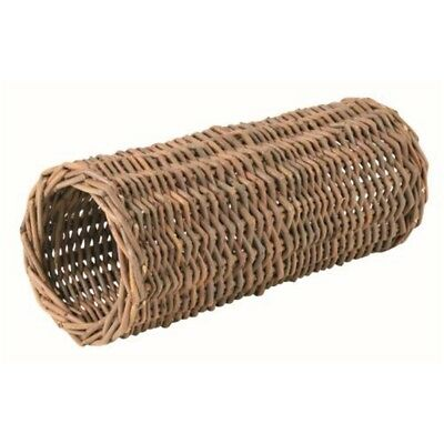 Trixie Wicker Tunnel For Hamsters, 25 x 10cm - Natural Toy Mice Hideaway Tube