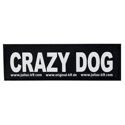2 Julius-k9® Hook And Loop Stickers, S, Crazy Dog - Juliusk9 Touch Fastener