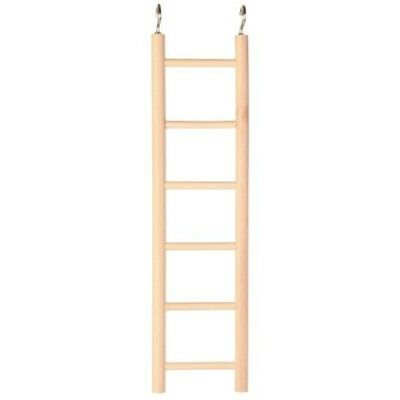 Wooden Bird/ Small Animal Ladder, 6 Rungs/28cm By Trixie - Ladder Budgie Cage