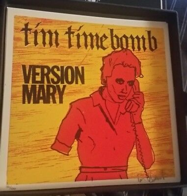 Rare New RANCID Tim Armstrong Timebomb VERSION MARY Signed limited edition print