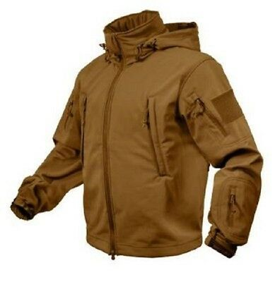 US Special OPS Softshell Army TACTICAL SOFT SHELL JACKET JACKE COYOTE BROWN XXL