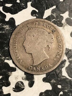 1884 Canada 5 Cents Lot#X4995 Silver! Key Date!