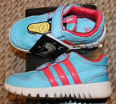 NEW! TODDLERS GIRLS Adidas STA Fluid 2 CF Shoes (No Lace! Blue Pink ... 5a5776c0c4d1