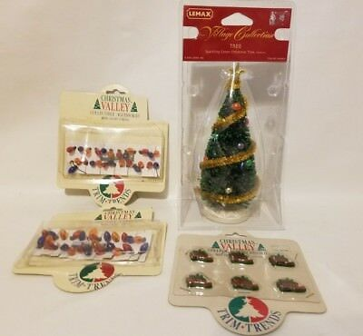lot of christmas valley lemax village accessories sparkling tree string lights