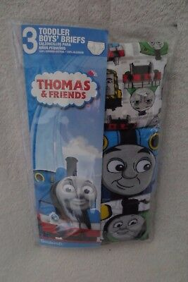 Boy Toddler Brief Underwear briefs 3 pairs Size 2/3 T Thomas And Friends New