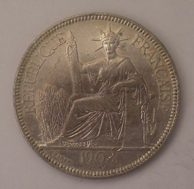 1903 A French Indo-China VIET NAM Silver Piastre coin KM-5a.1