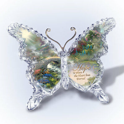 Hope Butterfly Crystal Figurine Paperweight Thomas Kinkade Sculpture