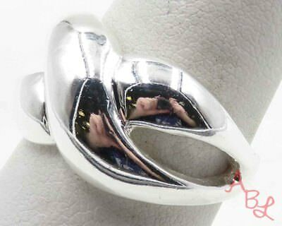 Sterling Silver Vintage 925 Shiny Unique Knot Band Ring Sz 8 (7.4g) - 716013