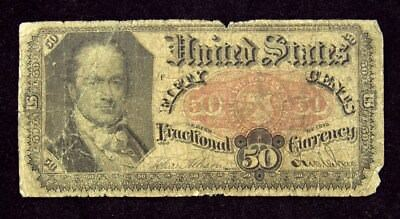 5th Issue (1874-1876) 50 Cents US Fractional Currency - VG - FR# 1381