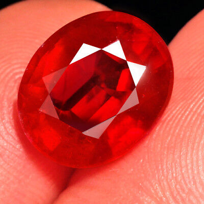 6.7CT Natural Mozambique Blood Red Ruby Faceted Cut QHB522