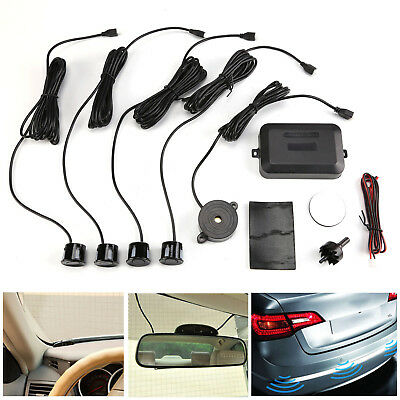 Car Rear Reverse Backup Parking 4 Sensors Reversing Audio Buzzer Alarm Kit