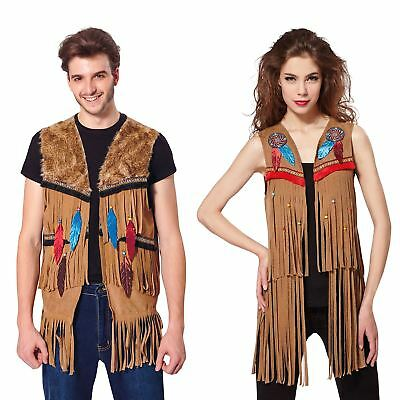 Adult Hippy Native Indian Waistcoats 60s 70s Hippie Fringed Fancy Dress Costume  sc 1 st  PicClick UK & 70S HIPPIE FRINGED Costume Woodstock 60u0027s Womens Groovy Baby Ladies ...