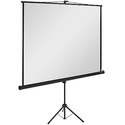 "Metroplan Tripod 134"" Portable Projection Screen with Borders, Aspect Ratio 1:1"