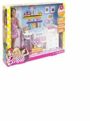 Barbie DVJ60 Babysitter Playset Rare Collectible