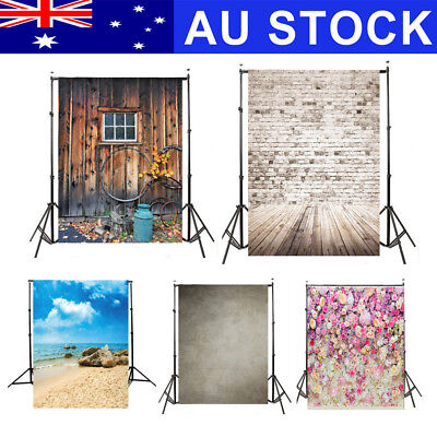 AU 5x7FT Sea Wood Wall Vinyl Photography Backdrop Photo Background Studio Props