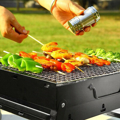 40x60cm BBQ Grill Cooker Stainless Steel Wire Mesh Outdoor Picnic Camp Barbecue