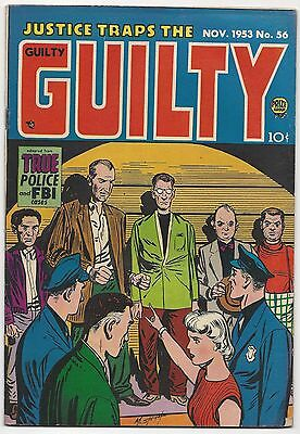 Justice Traps The Guilty #56, 1953, Classic Cover With Simon, Kirby, & Meskin