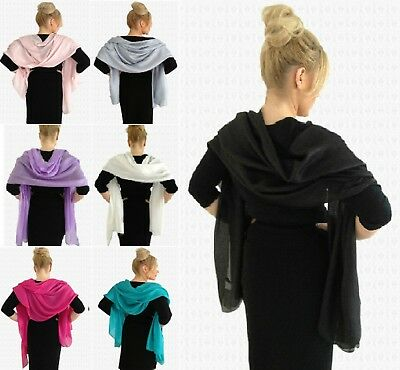Elegant & Silky WIDE Evening Shawl Wrap WEDDING /  Party Nights ~ Perfect!