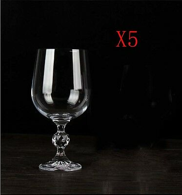 New 5X Capacity 230ML  Height  170MM  Transparent  Red Wine Glass/Glassware %