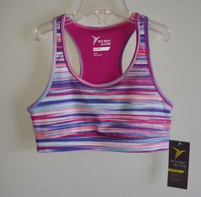 54631ccdc2de2 NEW OLD NAVY Girls 6-7 Strappy Cami Athletic Sport Bra Top PINK ...