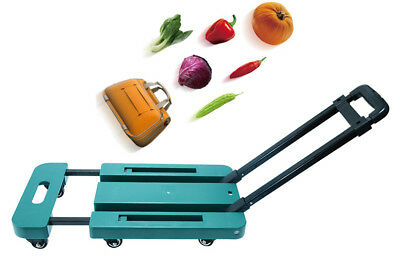 E53 Rugged Aluminium Luggage Trolley Hand Truck Folding Foldable Shopping Cart