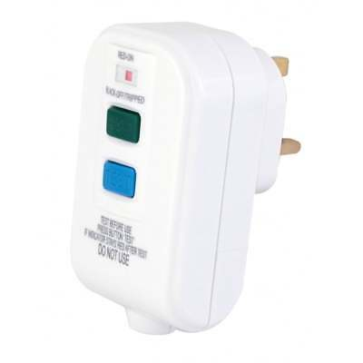 RCD Trip Switch Wire In 13 Amp Plug Socket Circuit Breaker Test Reset LED White
