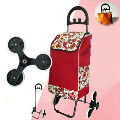 E192 Rugged Aluminium Luggage Trolley Hand Truck Folding Foldable Shopping Cart