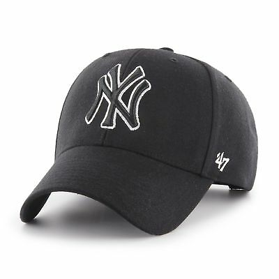 MLB New York Yankees NY  Cap Basecap Baseballcap MVP Black White 47 Brand