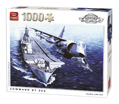1000 Piece History Collection Jigsaw Puzzle Command At Sea Aircraft Carrier 5624