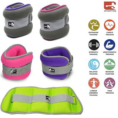 Sporteq Ladies Ankle Wrist Weights 2 x 1.5 kg & 1 Kg Fitness Gym/Running/Cardio