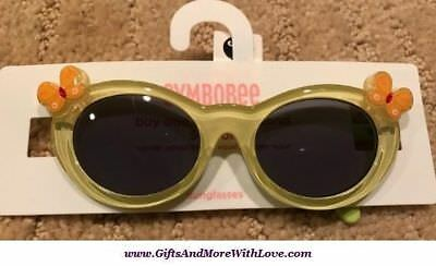 Gymboree NWT Crystal Yellow BUTTERFLY UVA UVB DRESS SUNGLASSES 0 1 2 Years