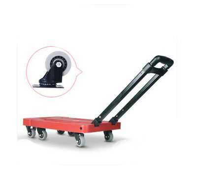 E58 Rugged Aluminium Luggage Trolley Hand Truck Folding Foldable Shopping Cart
