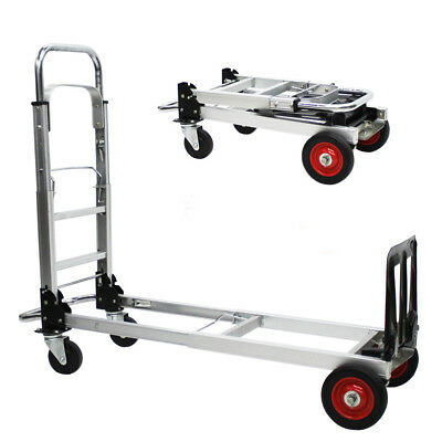 E23 Rugged Aluminium Luggage Trolley Hand Truck Folding Foldable Shopping Cart