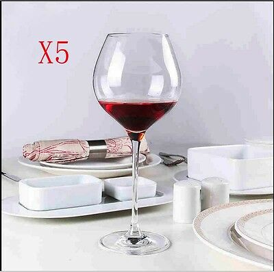 New 5X Capacity 650ML Height 260MM Transparent Red Wine Glass/Glassware %