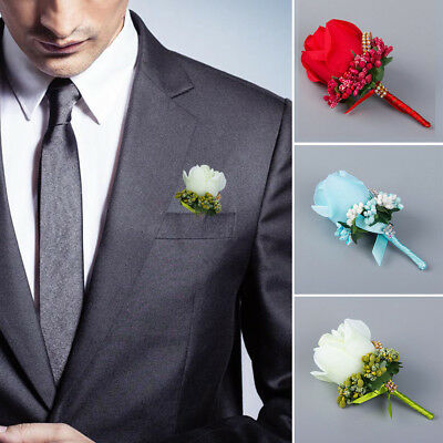 Rose Corsage Wedding Button Hole Variety Colours Groom Best Man Guest