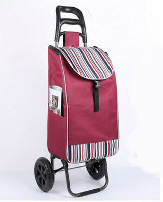 E156 Rugged Aluminium Luggage Trolley Hand Truck Folding Foldable Shopping Cart