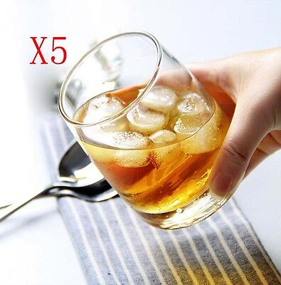 New 5X Capacity 355ML Height 103MM Transparent Whisky Wine Glass/Glassware %
