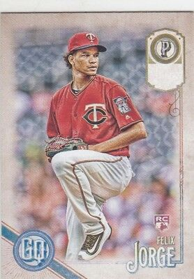 Felix Jorge 2018 Topps Gypsy Queen Missing Team Nameplate Rc #104 Twins