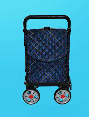 E125 Rugged Aluminium Luggage Trolley Hand Truck Folding Foldable Shopping Cart