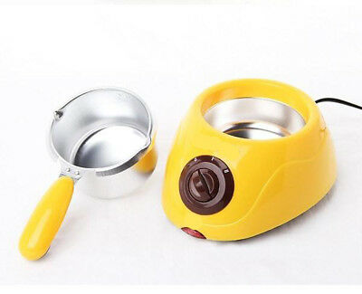 Yellow hocolate Pot Electric Hot Melting Steamer Saucepan Cooking Utensils