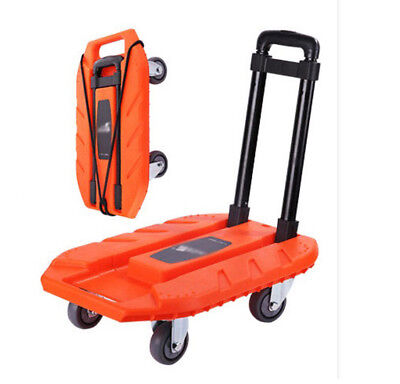E107 Rugged Aluminium Luggage Trolley Hand Truck Folding Foldable Shopping Cart