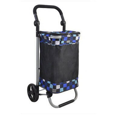 E145 Rugged Aluminium Luggage Trolley Hand Truck Folding Foldable Shopping Cart
