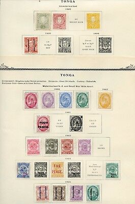 Tonga Stamps Mint Hinged And Nh As Shown -Scott $1000.00
