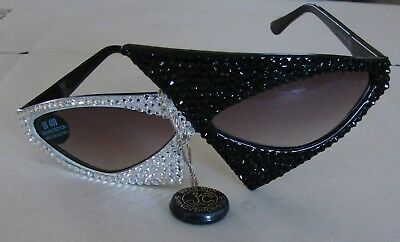 Must See! Most Amazing Sunglasses Black & White Made With Swarovski Crystals